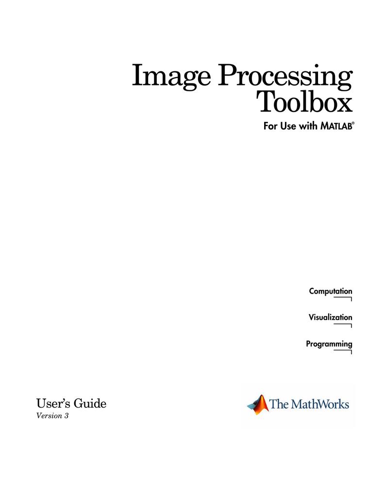 MATLAB Image Processing Toolbox [16,45 MiB] | manualzz com