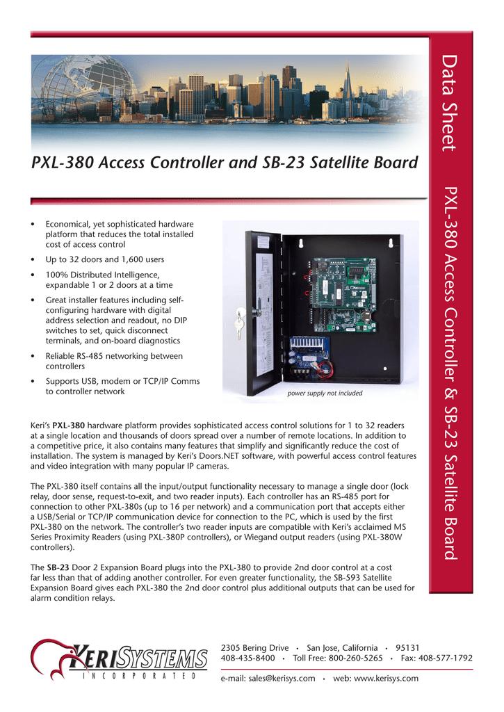 PXL-380_SB-23_Data_Sheet_A4_Rev-D pdf | manualzz com