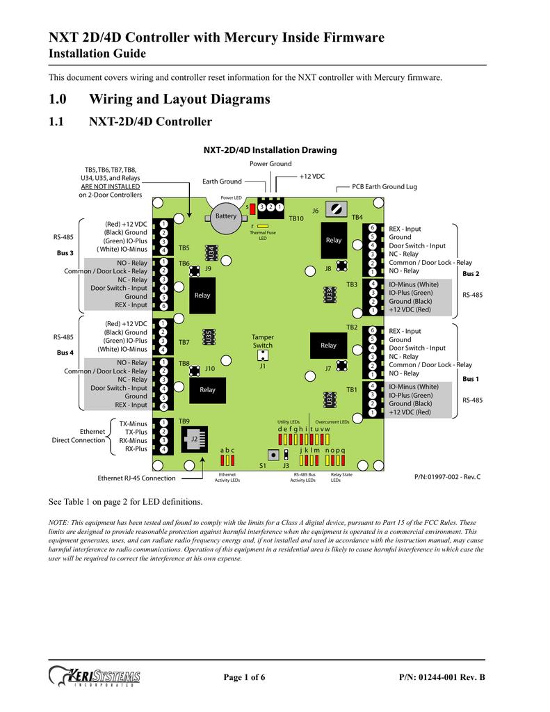 [SCHEMATICS_48YU]  nxt_2d-4d_mercury_inside_controller_installation_guide_rev-b.pdf | Manualzz | Keri Access Wiring Diagram |  | manualzz