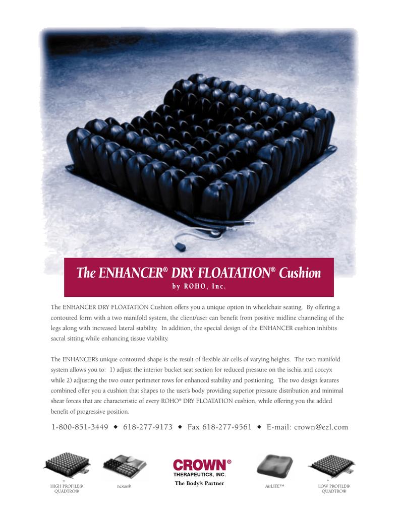 The Enhancer Dry Floatation Cushion Manualzz