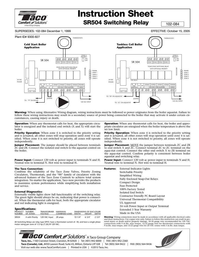 SR504 Switching Relay | manualzz com