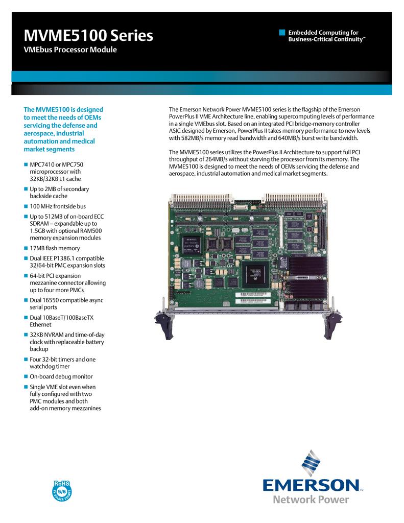 MVME5110_DATA_SHEET.PDF   Manualzz