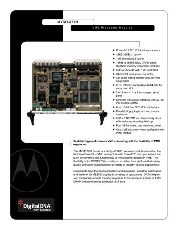 VME2700_DATA_SHEET.PDF | Manualzz
