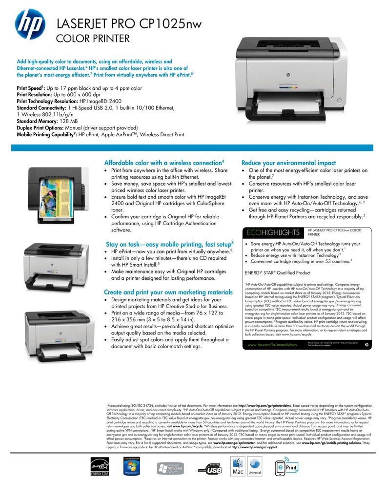 160301-CP1025nw.pdf | Manualzz