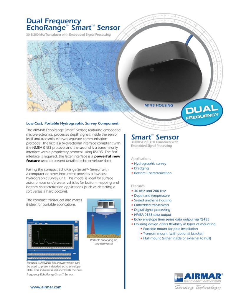 Airmar Dual Frequency EchoRange M195 Smart Sonar Depth