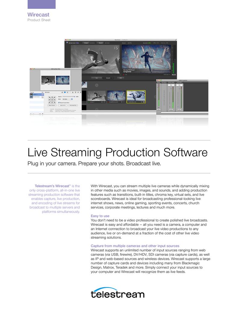Live Streaming Production Software Wirecast | manualzz com