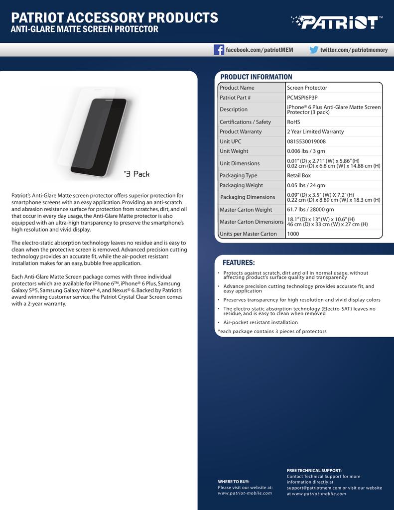151690-matte_screen_protector_iphone6_plus.pdf | Manualzz