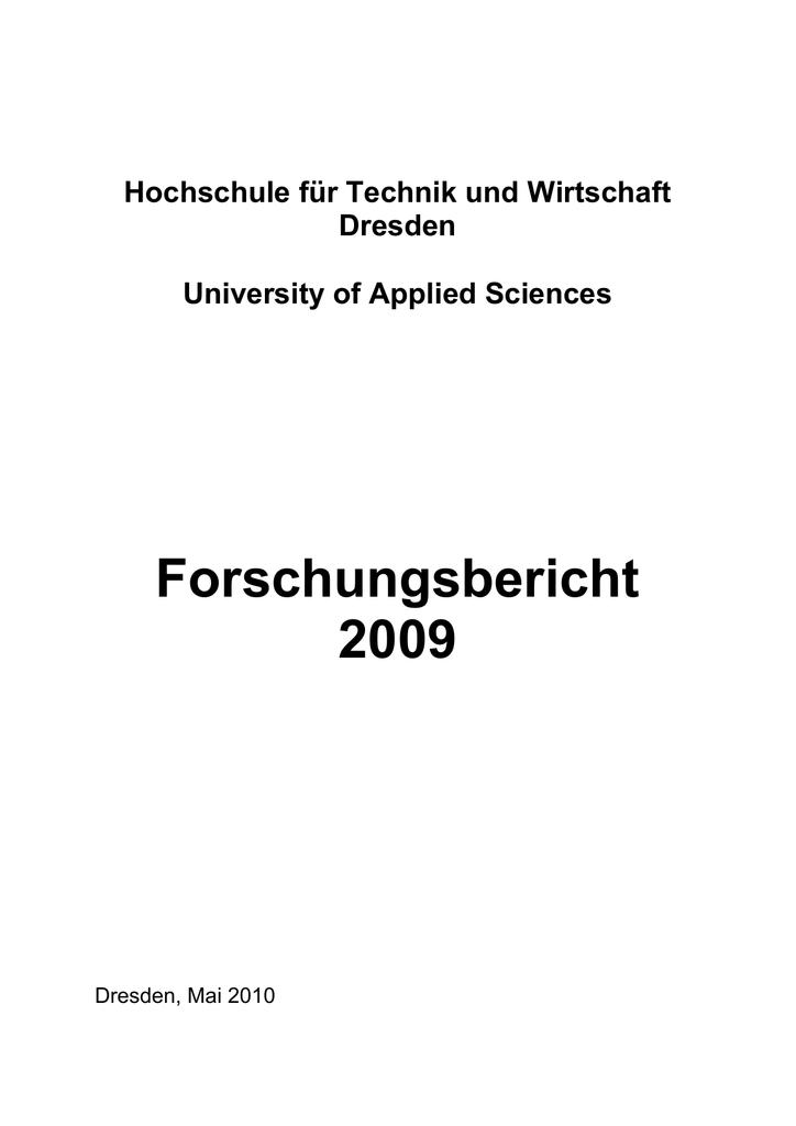 Forschungsbericht 2009 (PDF | 3.92 MB) | manualzz.com