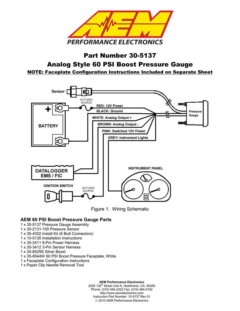 AEM 30-5137M, 30-5137 Instructions   Manualzz   Aem Boost Gauge Wiring Diagram      Manualzz