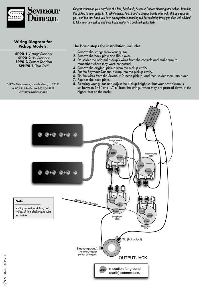 seymour duncan phat cat wiring diagram pdf  manualzz