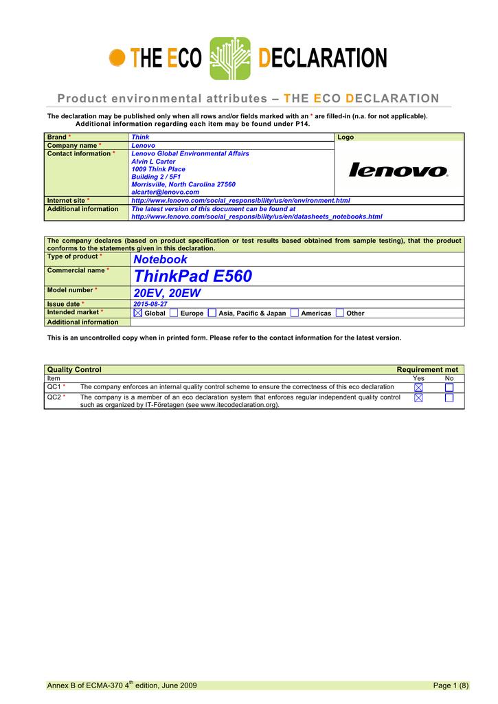 Lenovo ThinkPad Edge E560 | manualzz com