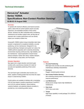 Actuador HercuLine Serie 10260A.pdf   Manualzz