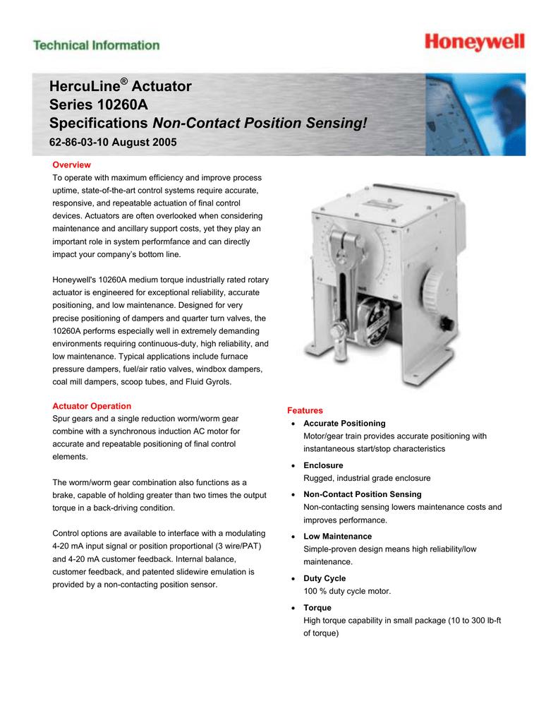Actuador HercuLine Serie 10260A.pdf | Manualzz