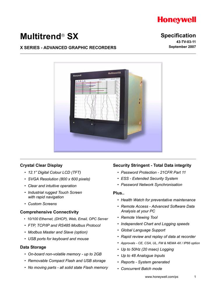 Registrador grfico avanzado Multitrend SX.pdf | Manualzz