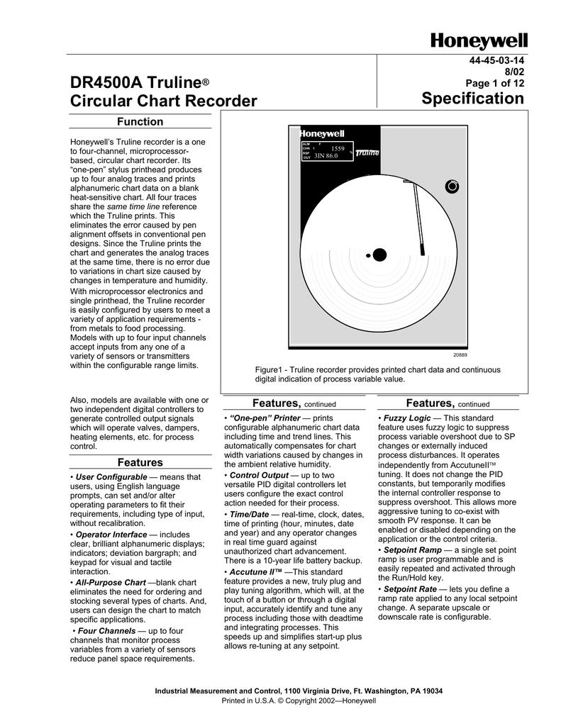 Registrador grfico circular DR4500A Truline.pdf | Manualzz