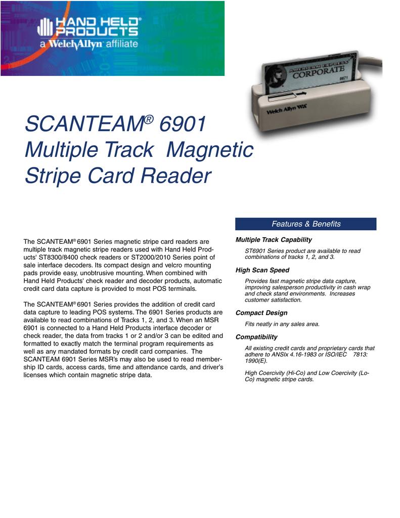 SCANTEAM 6901 Multiple Track Magnetic Stripe Card Reader