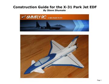 X-31 Construction Guide.pdf | Manualzz