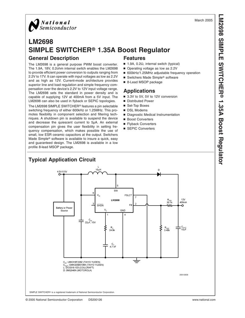 National Semiconductor LM2698MM-ADJ NOPB (73-266-10