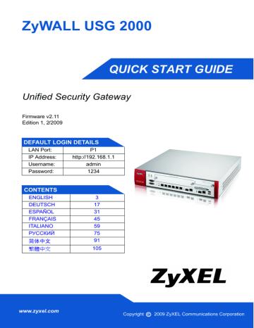 ZyWALL_USG_2000.pdf | Manualzz