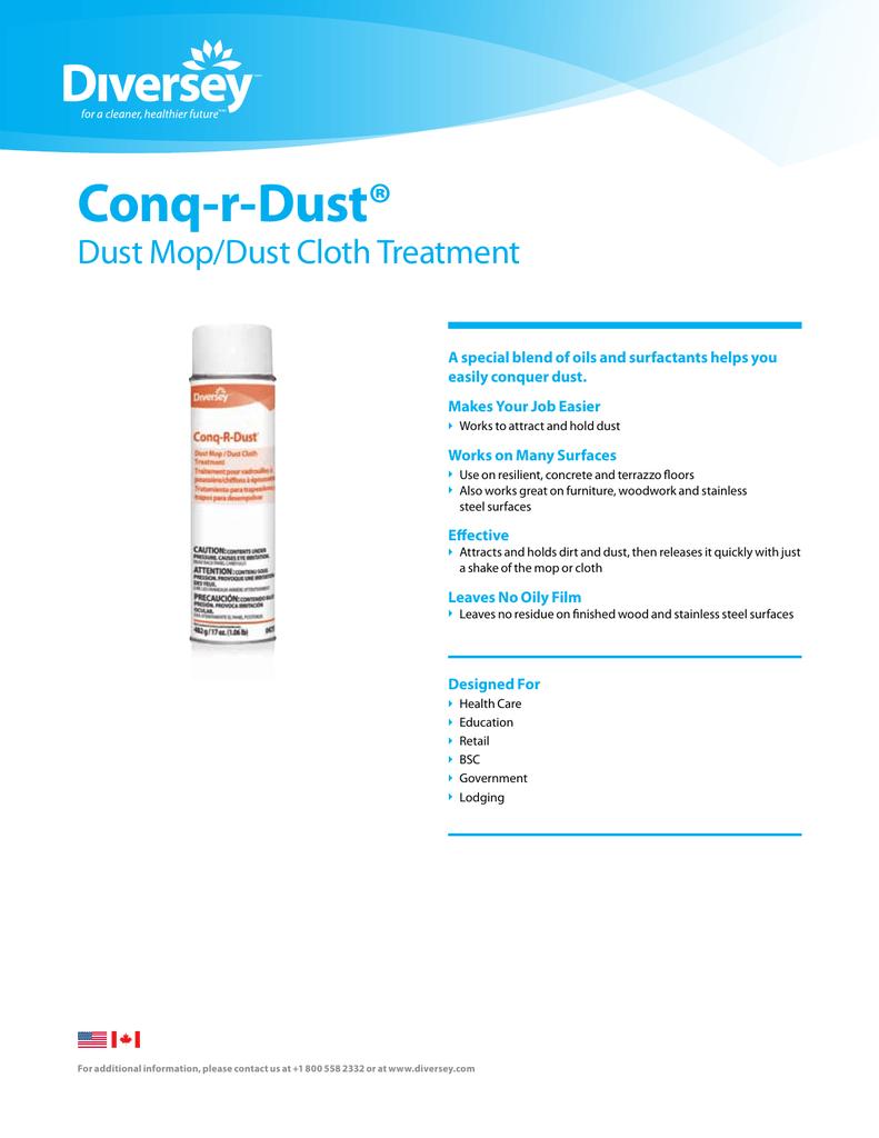 Conq-r-Dust® Dust Mop/Dust Cloth Treatment | manualzz com