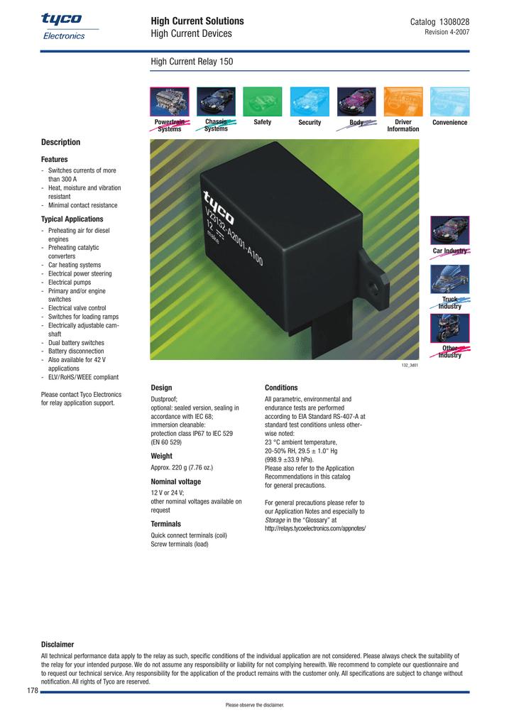 Tyco v23132-b2002-a100 150A 24V relay.pdf | Manualzz