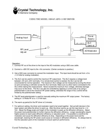 Using the 1080AF-AIFO-1.0 RF Driver.pdf | Manualzz