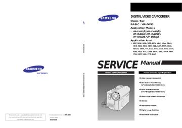 SAMSUNG VP-D451, D453, D454, D455, D6620I, D6650I.pdf | Manualzz