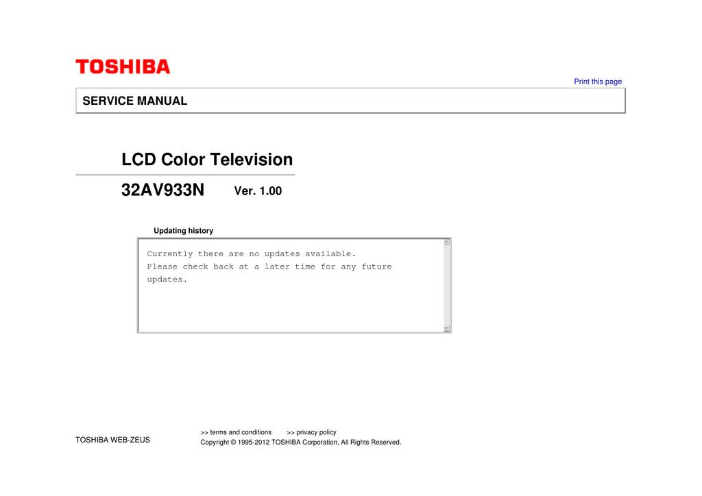 061255111fc7 ... Array - toshiba 32av933n ver 1 00 pdf manualzz com rh manualzz ...