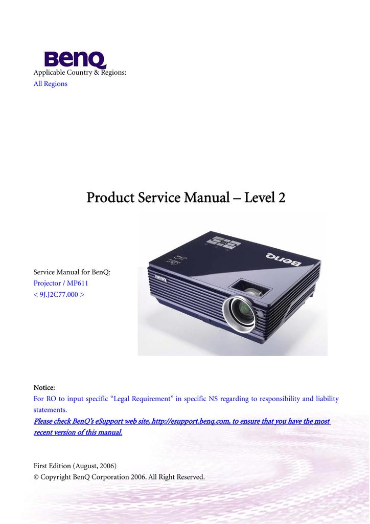 benq_mp611_level2_sm.pdf | Manualzz
