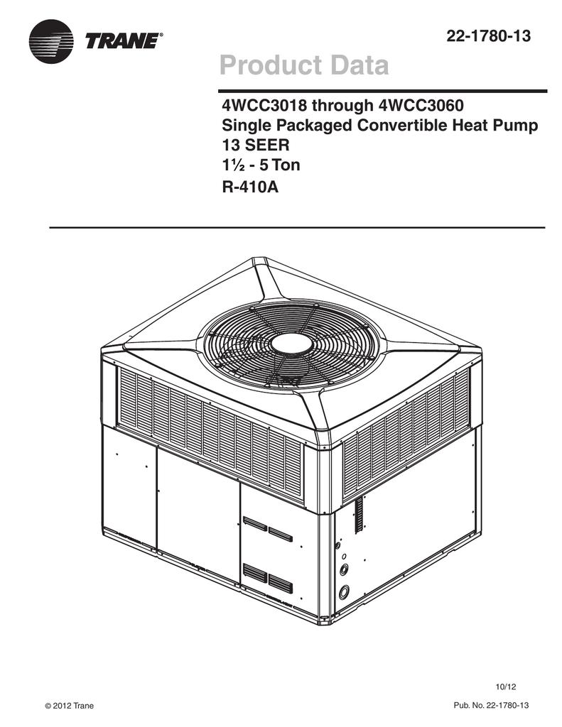 4wcc3036 060 22 1780 Trane Hard Start Kit Wiring Diagram