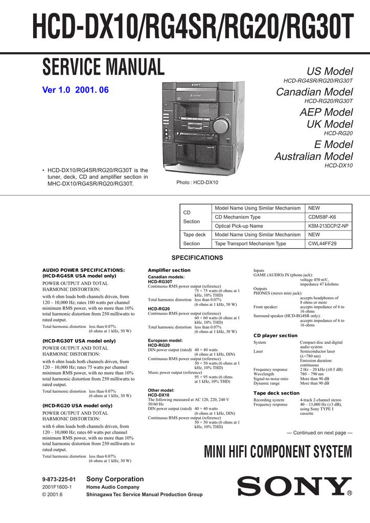 HCD-DX10_RG4SR_RG20_RG30T.pdf | Manualzz