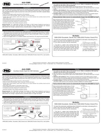1. http://www.autotoys.com/pics/AAI-GM9.pdf   Manualzz