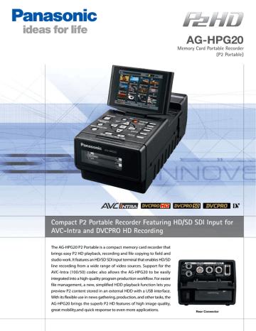 AG-HPG20-PEpre-03.pdf | Manualzz