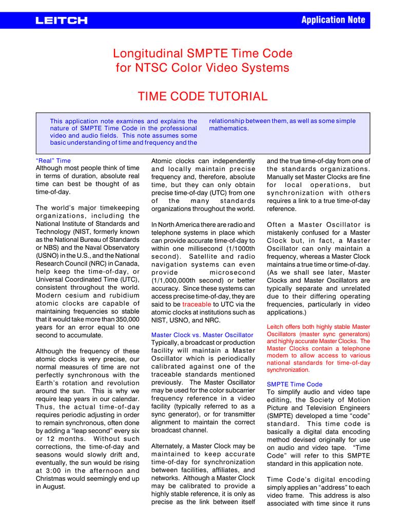 timecode.pdf | manualzz.com