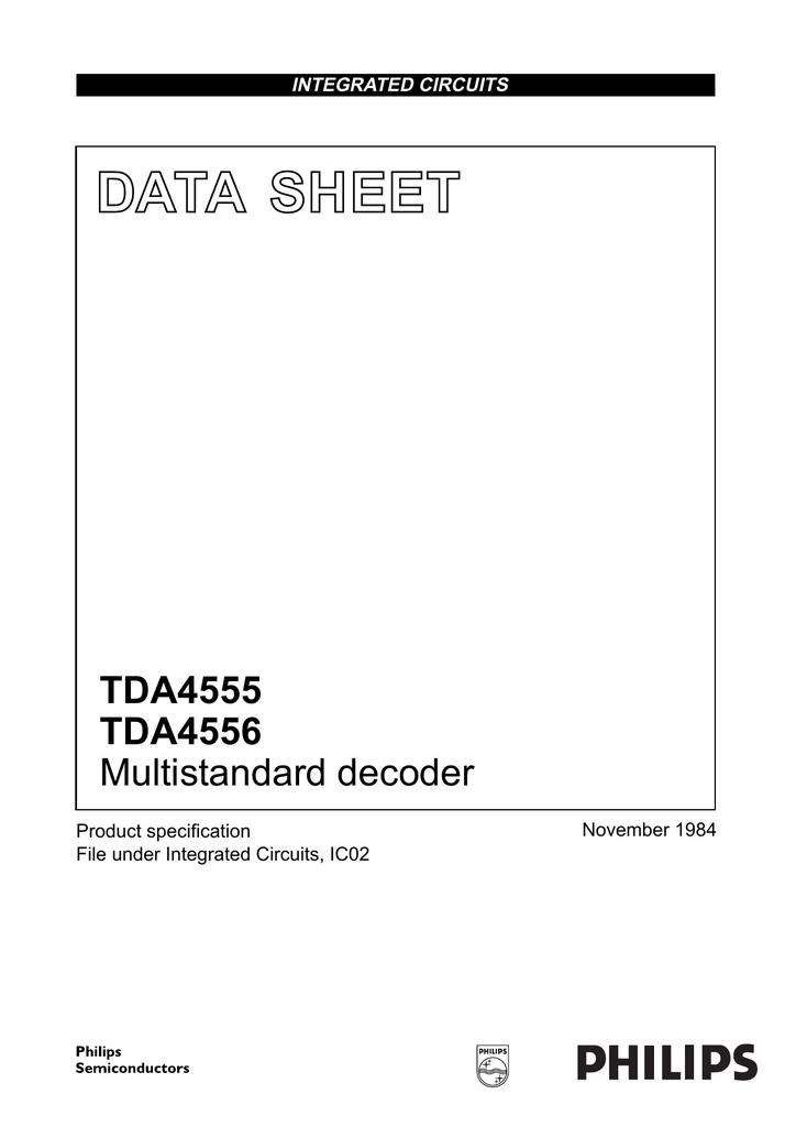 Tda4685 vidéo processor with automatic cut-off Control dip-28
