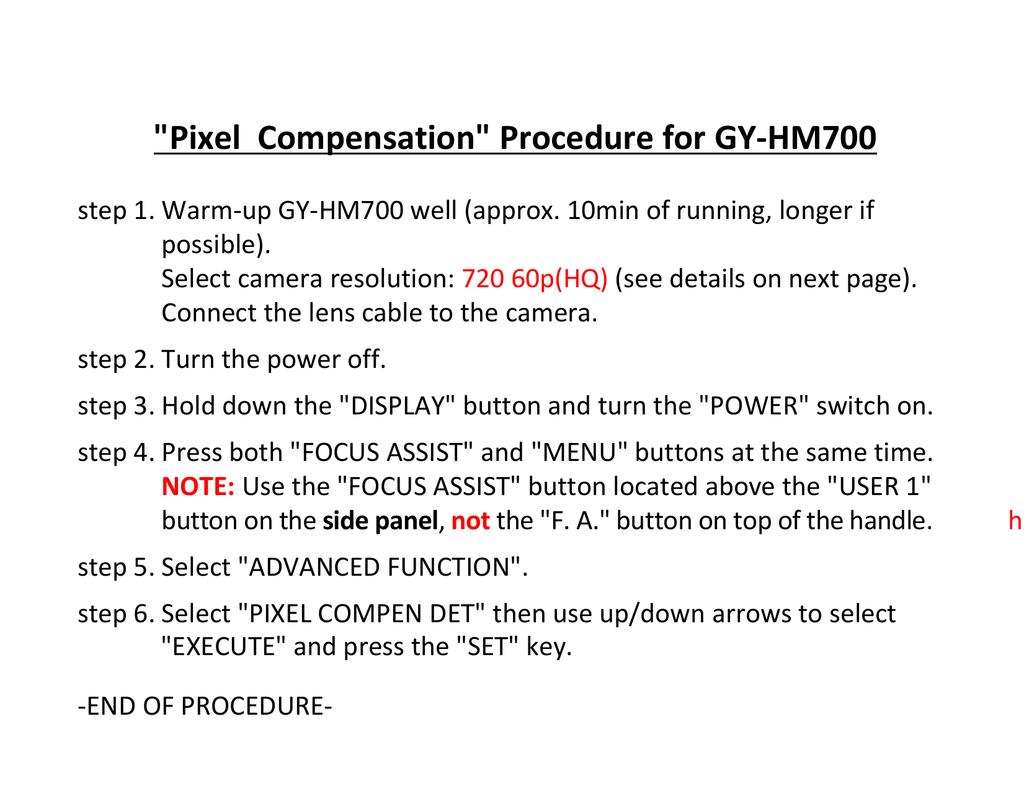 Pixel Compensation Procedure for GY-HM700.pdf   Manualzz