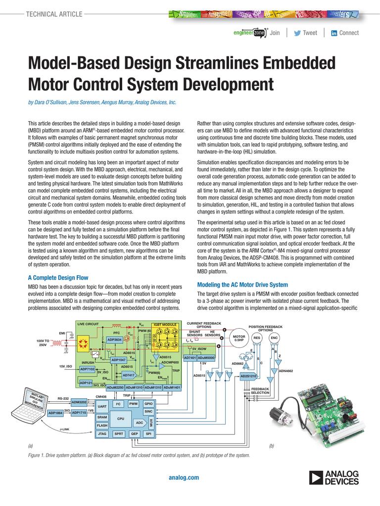Model Based Design Streamlines Embedded Motor Control System Development Pdf Manualzz
