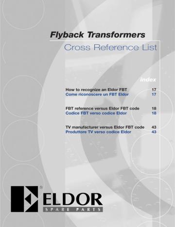 EldorFBTCatalogue2005.pdf | Manualzz