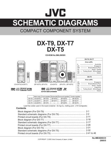 JVC DX-T9, T7, T5 (CA-DXT9, DXT7, DXT5).pdf | Manualzz