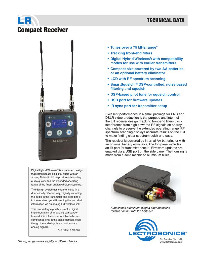 LR Compact Receiver TECHNICAL DATA | manualzz com