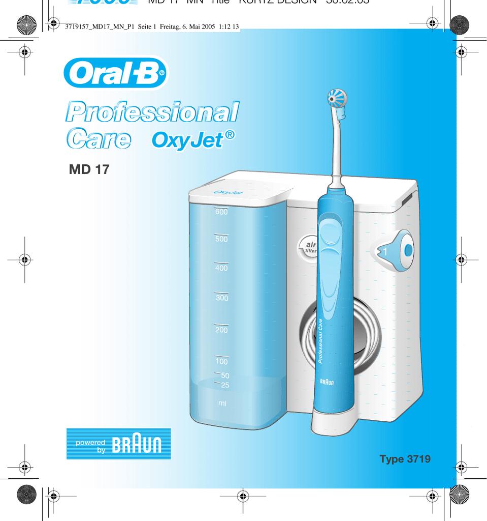 Eau Support pour Oral-B Jet d/'eau//Oxyjet