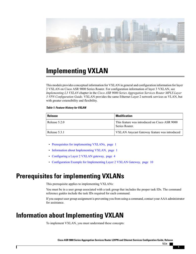 Implementing VXLAN | manualzz com