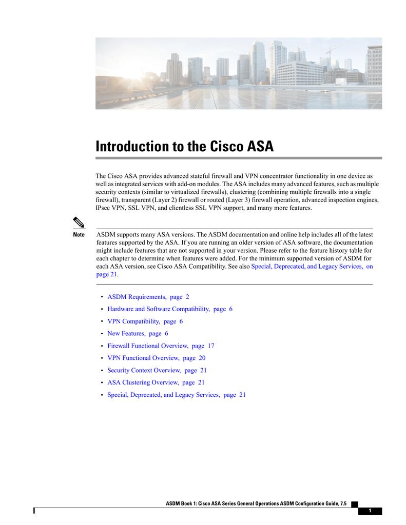 Introduction to the Cisco ASA | manualzz com