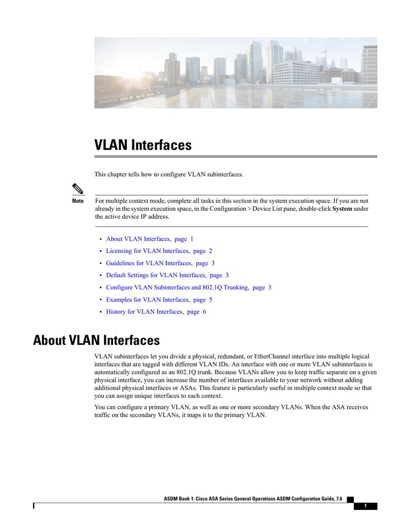 VLAN Interfaces | manualzz com