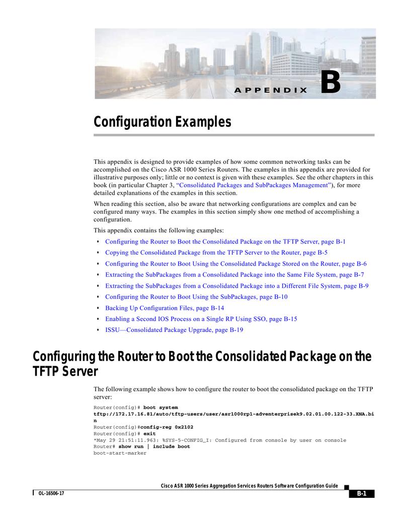 B Configuration Examples | manualzz com