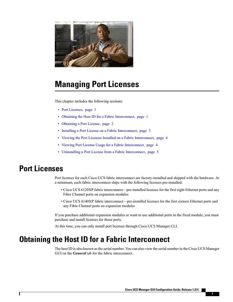 Managing Port Licenses | manualzz com