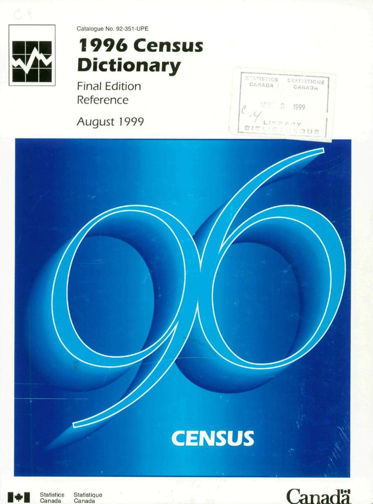 Canada Census Dictionary E Manualzzcom - Ftp-map-clearwater-mn-us-letg-custody-1