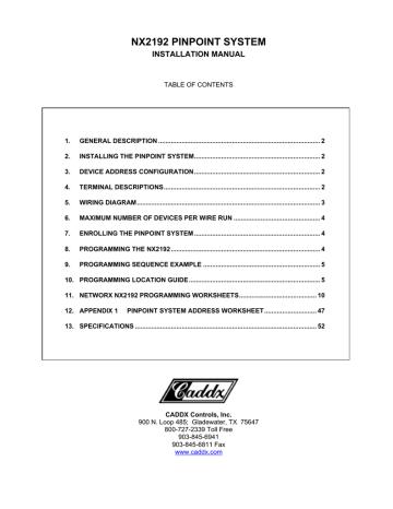 NX-2192 Pinpoint Addressable Installation Manual Rev A.pdf   Manualzz