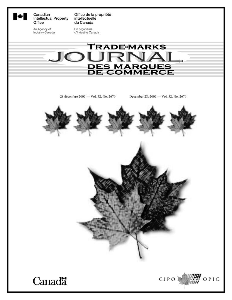Office De La Propriété Canadian Intellectuelle Intellectual