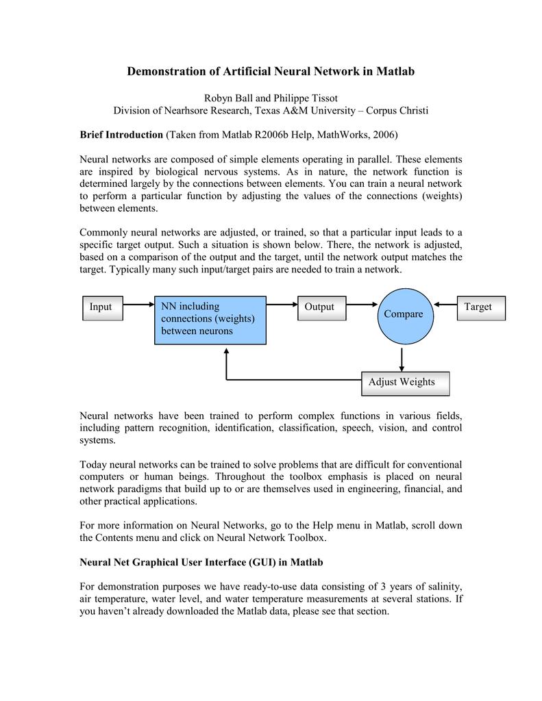 Demonstration of Artificial Neural Network in Matlab | manualzz com